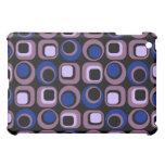 Blue Retro Squares Pern iPad Mini Cover