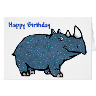 Blue Rhino Happy  Birthday Card