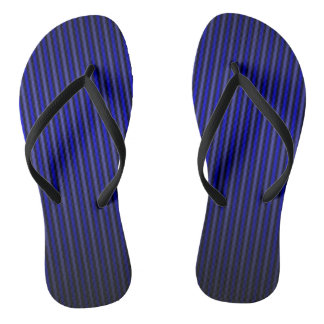 BLUE RIBBED SATIN FADE FLIP-FLOPS THONGS