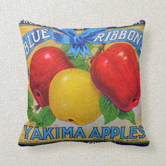 Blue Ribbon Brand Apple Crate Label Cushion
