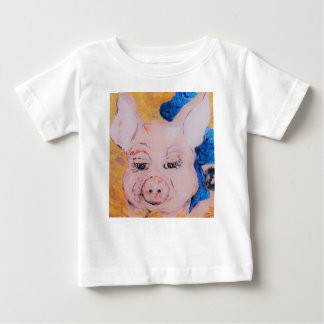 Blue Ribbon Pig Baby T-Shirt