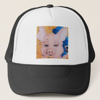 Blue Ribbon Pig Trucker Hat