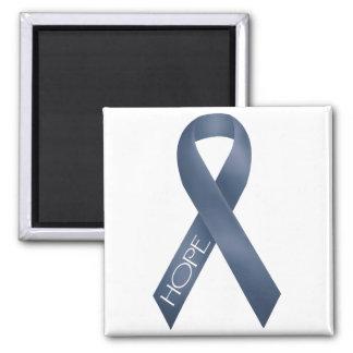 Blue Ribbon Square Magnet