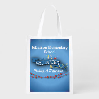 Blue Ribbon Volunteer Reusable Grocery Bag