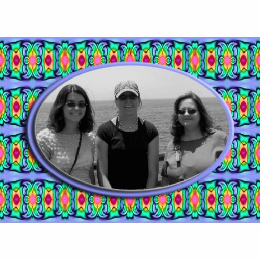 blue ribbons frame photo cut outs