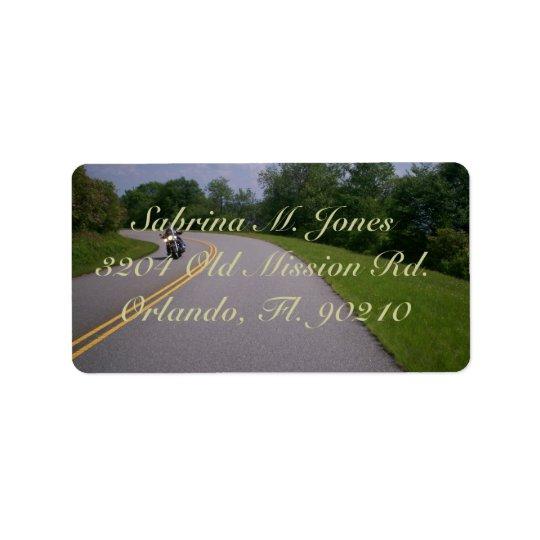 Blue Ridge Motorcycle Ride Label
