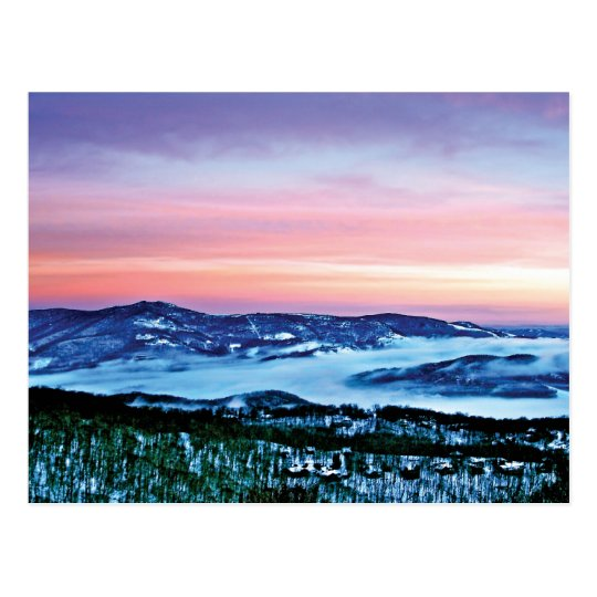 Blue Ridge Mountain Magic under a Winter Spell Postcard