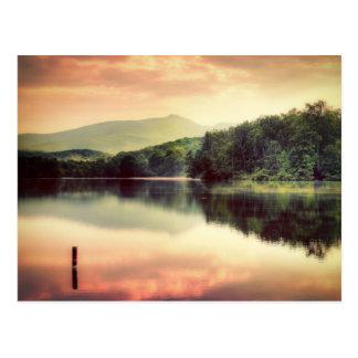 Blue Ridge Mountain Parkway at Sunset Postcard