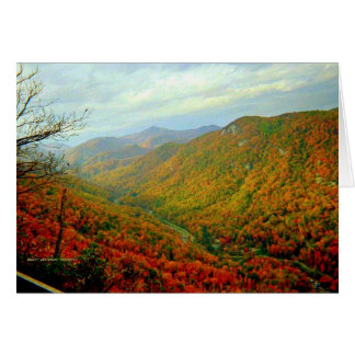 Blue Ridge Mountain Range of North Carolina Card