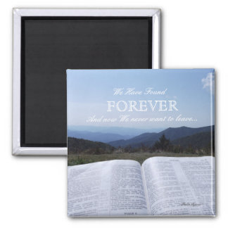 Blue Ridge Mountain Scripture Forever Magnet