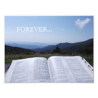 Blue Ridge Mountain Scripture Forever Photo