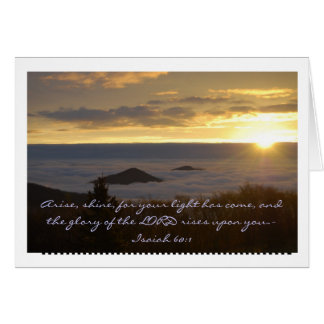 Blue Ridge Mountain Sunrise Card