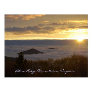 Blue Ridge Mountain Sunrise Postcard
