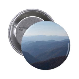 blue ridge mountains 6 cm round badge