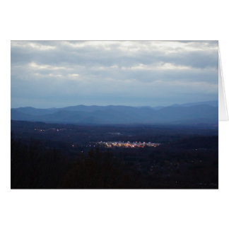 Blue Ridge Mountains ~ A Little Town Glows Card