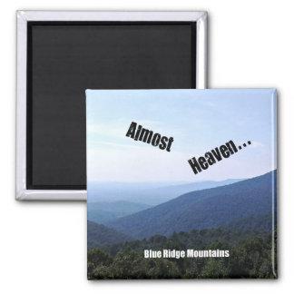 Blue Ridge Mountains Square Magnet