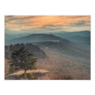 Blue Ridge Mountains Sunset Art Photo