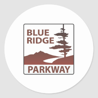 Blue Ridge Parkway Highway Road Trip Classic Round Sticker