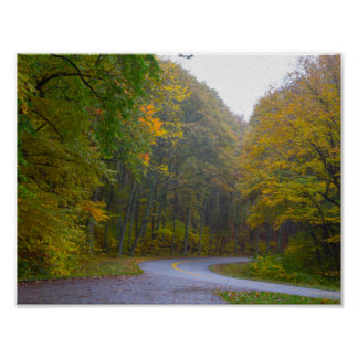 Blue Ridge Parkway in Fall, Virginia Poster