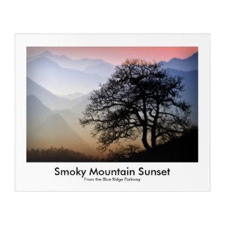 Blue Ridge Parkway Smokies Sunset Picture Acrylic Wall Art