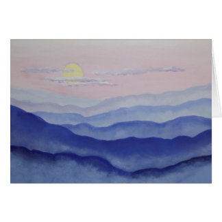 Blue Ridge Sunrise Card