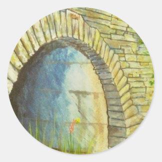 Blue Ridge Tunnel Classic Round Sticker