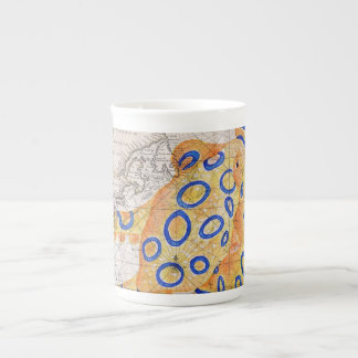 Blue Ring Octopus Map Tea Cup