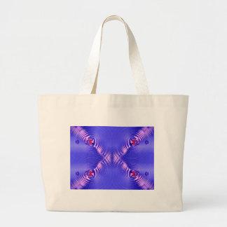 blue ripple canvas bag