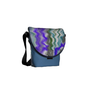 blue ripple wave courier bags