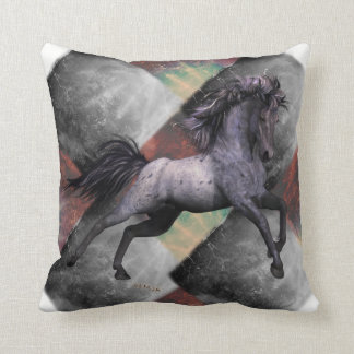 "Blue Roan Horse Throw Pillow 16""x16"", see options"