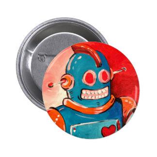 Blue Robot Pin
