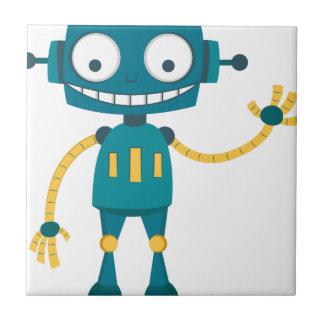 Blue Robot Ceramic Tile