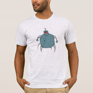 Blue Robot Cyclops Spider T-Shirt