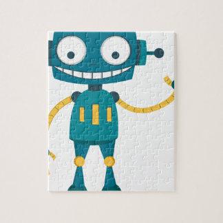 Blue Robot Jigsaw Puzzle