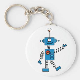 Blue Robot Key Ring