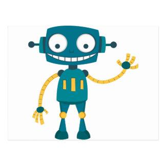 Blue Robot Postcard