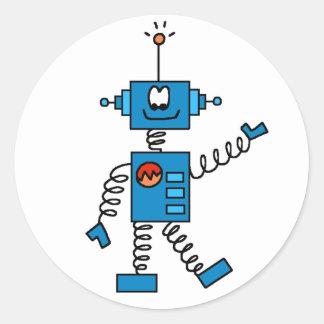 Blue Robot Sticker