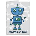 Blue Robot Thank You Cards | Thanks a 'bot!