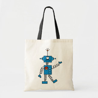 Blue Robot Tshirts and Gifts Tote Bag