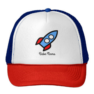 Blue rocket flying. cap