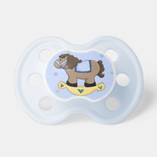 Blue Rocking Horse Baby Pacifier