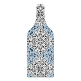Blue Rococo Pattern Flourish Cutting Board