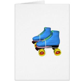 Blue Roller Skates Card