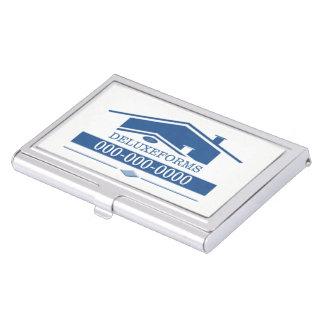 Blue Roof Business Card Holder