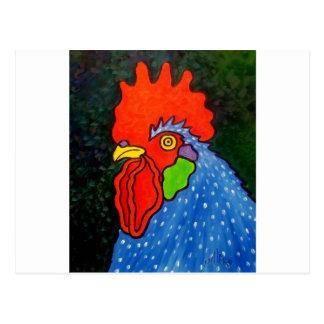 Blue Rooster 14 Postcard