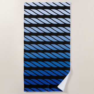 Blue Rope Style Stripes Decor on a Beach Towel
