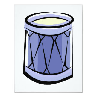Blue Rope Tension Drum Abstract Vintage image 11 Cm X 14 Cm Invitation Card