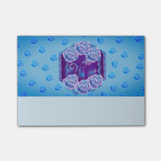 Blue rose and blue cat blue rose blue cat post-it notes