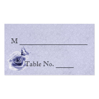 Blue Rose and Butterfly Wedding Place Cards Business Card Template