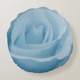 Blue Rose Blossom Round Cushion